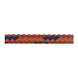 Drisse polyester orange et bleu marine diamètre 4 à 16 mm