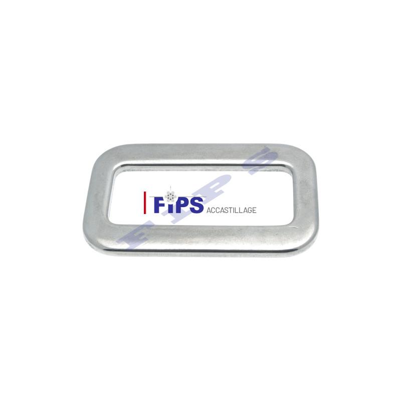 fa01e83d4273 Passant pour sangle en inox 316 de largeur 50 mm