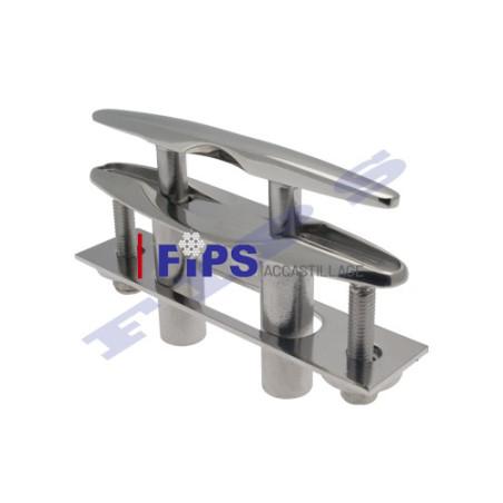 Taquet d'amarrage rétractable inox 316 de longueur 160 mm
