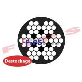 Destockage - Câble souple 7x7 D.1.5/2.8 mm en inox 316 gainé PVC noir