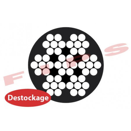 Destockage - Câble souple 7x7 D.1.5/2.8 mm en inox 316 gainé PVC noir