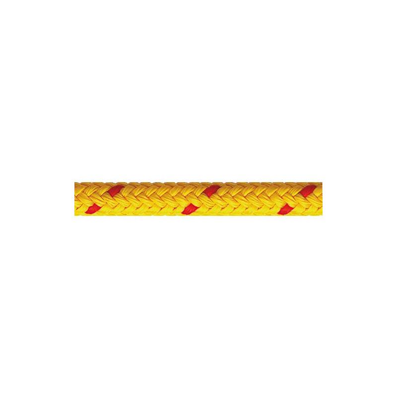 Garcette en polypropylène jaune et rouge diamètre 6 et 8 mm