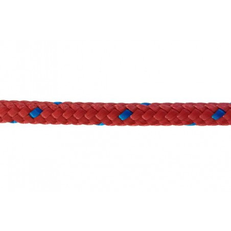 Garcette en polypropylène rouge et bleue diamètre 6 et 8 mm