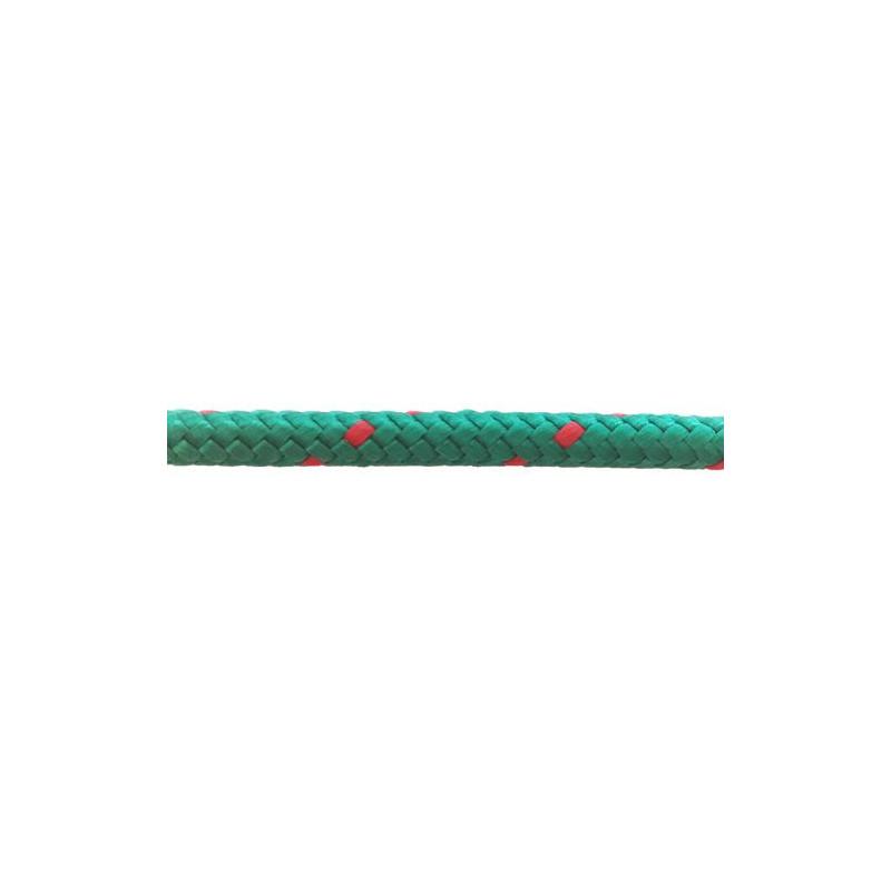 Garcette en polypropylène verte et rouge diamètre 6 et 8 mm