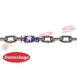 Destockage - Chaîne maillon court en acier zingué DIN 766 diamètre 4 mm