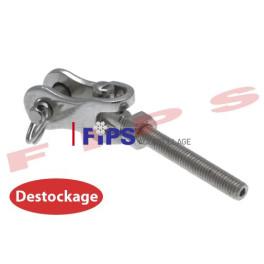 Destockage - Chape articulée filetage à droite en inox 316