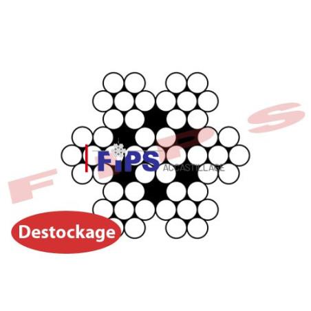 Destockage - Câble 7x7 diamètre 8 mm inox 316 - 22 mètres