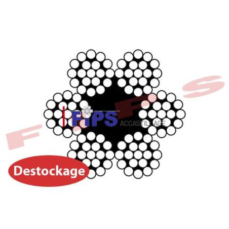 Destockage - Câble 6x19 diamètre 8 mm âme textile inox 316