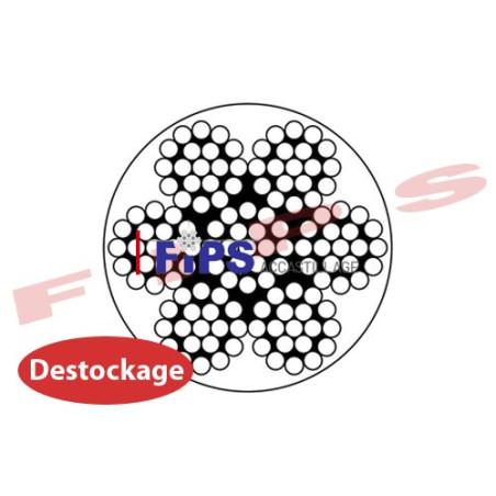 Destockage - Câble 7x19 en acier galvanisé diamètre 6/8 gainé PVC cristal