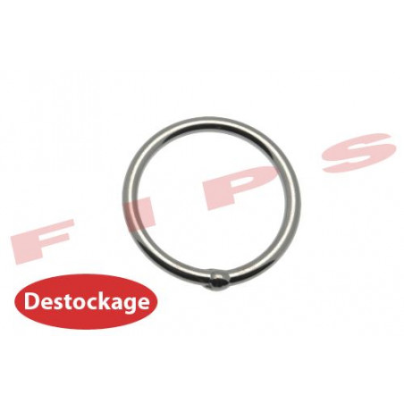 Destockage - Anneau rond soudé en inox 316 fil diamètre 5 mm