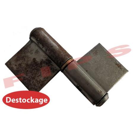 Destockage - Paumelle de grille symétrique en acier brut