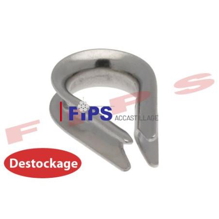 Destockage - Cosse coeur en inox 304