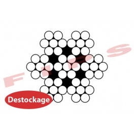 Destockage - Câble 7x7 en inox 316 diamètre 8 mm - 17 mètres