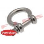 Destockage - Manille lyre diamètre 6 mm en inox 304