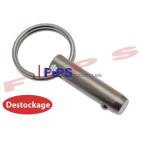 Destockage - Goupille à bille et anneau diamètre 8 mm en inox 304