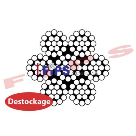 Destockage - Câble 7x19 en inox 316 diamètre 2.5 mm - 6.5 mètres