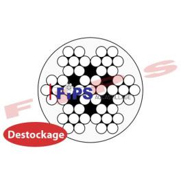 Destockage - Câble 7x7 diamètre 4/5 mm en inox gainé PVC cristal - 68 mètres