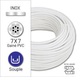 Câble souple 7x7 en inox...