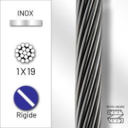Câble rigide 1x19 en inox 316