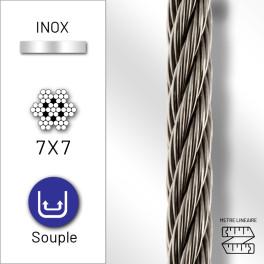 Câble souple 7x7 en inox 316