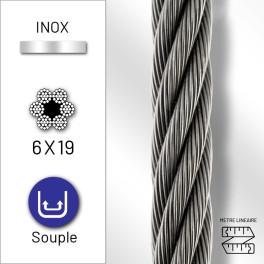 Câble extra souple 6x19 en...