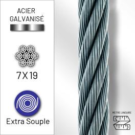 Câble extra souple 7x19 en...