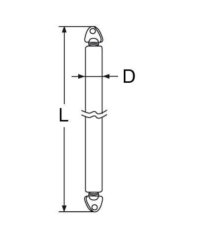 Poteau réglable de bimini inox 304