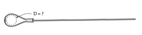 Câble avec manchonnage à une extrémité