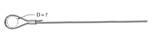 Câbe avec manchonnage à une extrémité