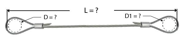 Câble avec manchonnage à chaque extrémité