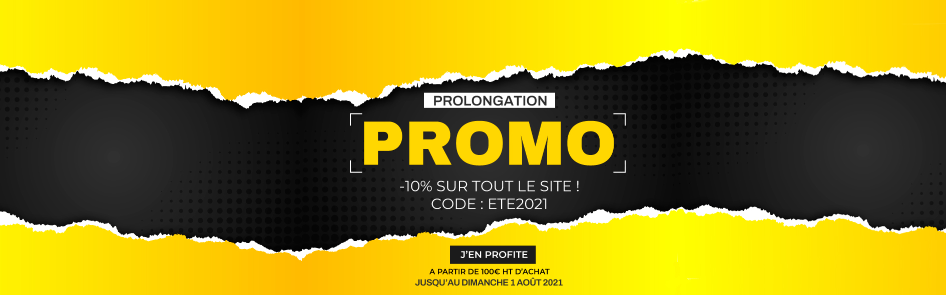 -10% sur tout le site à partir de 100€ HT d'achat